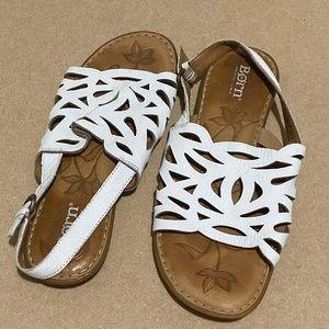 BORN white sandals